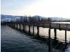 View of wooden bridge